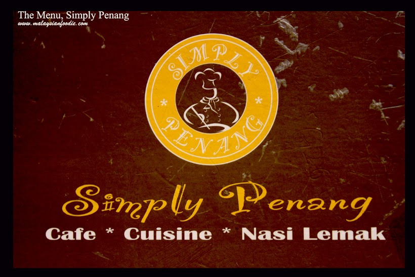 A meal in Simply Penang, 1-Utama