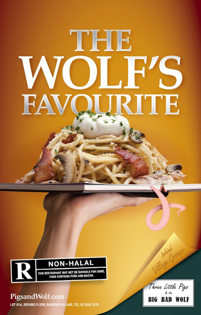 THE WOLF'S FAVOURITE AT THREE LITTLE PIGS & THE BIG BAD WOLF