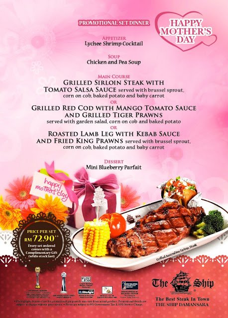 Dinner Set Promotion For Mother S Day At The Ship