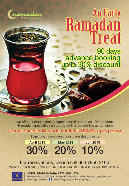 AN EARLY RAMADAN TREAT AT HOTEL SINGGAHSANA
