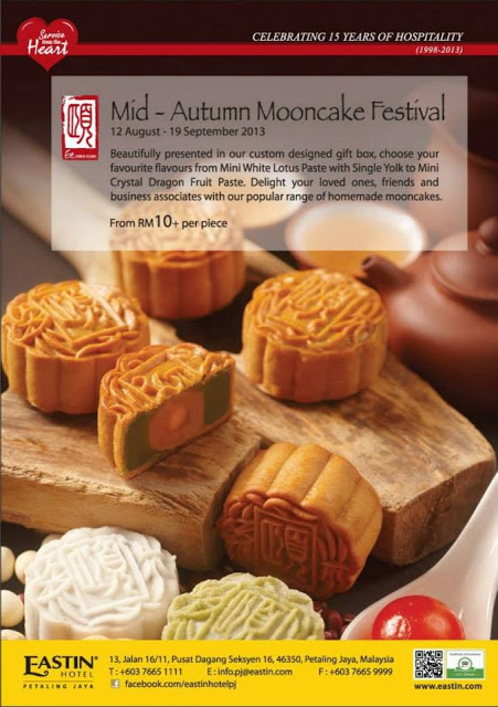 MID AUTUMN MOONCAKE FESTIVAL WITH EE CUISINE, EASTIN PJ