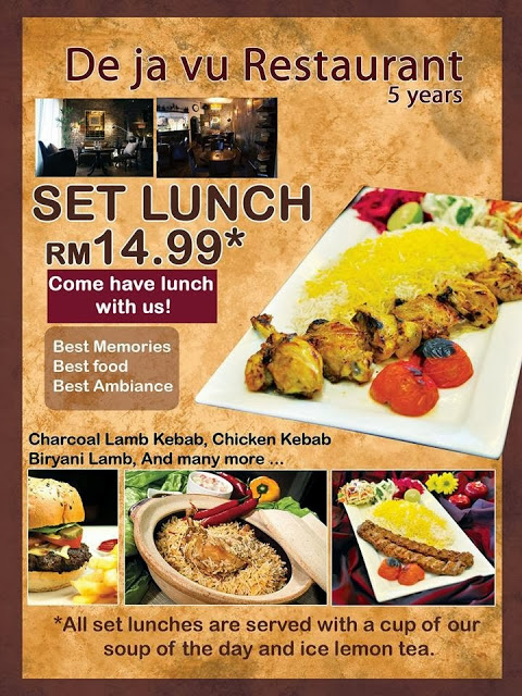 SPECIAL LUNCH PROMOTION AT DE JA VU RESTAURANT