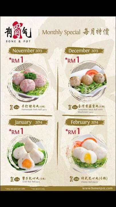 RM 1 PROMOTION AT BONE & POT STEAMBOAT RESTAURANT