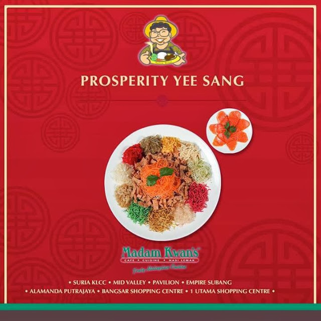 PROSPERITY YEE SANG AT MADAM KWAN