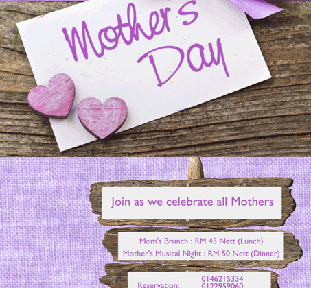 MOTHER DAY PROMOTION AT SULTANI, FLAMINGO HOTEL AMPANG