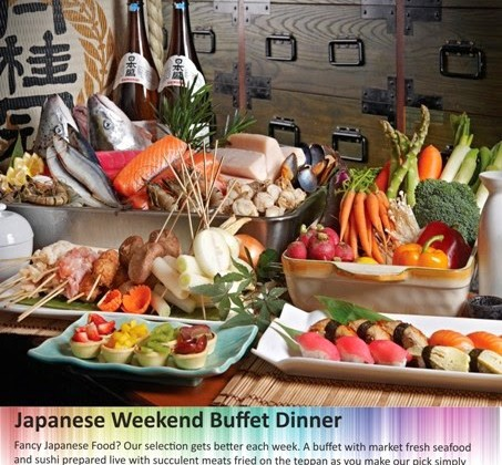 JAPANESE WEEKEND BUFFET DINNER AT KOFUKU, SERI PACIFIC HOTEL
