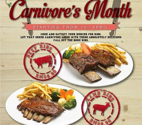 CARNIVORE'S MONTH PROMOTION AT HOUSE.RESTAURANT.BAR .WINEPOST
