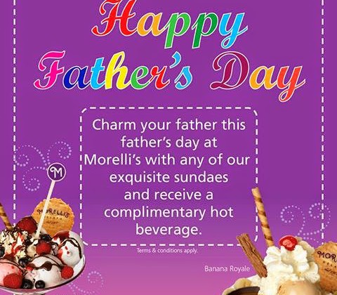 FATHER'S DAY PROMO AT MORELLI'S GELATO