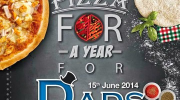 FREE PIZZA FOR A YEAR FOR DAD AT CAPRICCIOSA