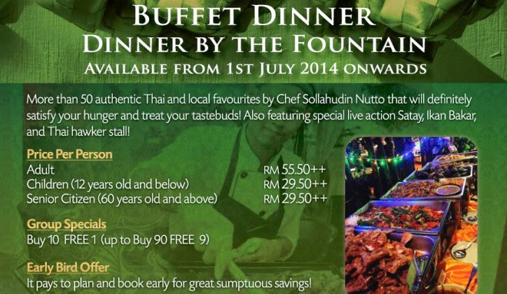 CHAKRI BUFFET DINNER BY THE FOUNTAIN