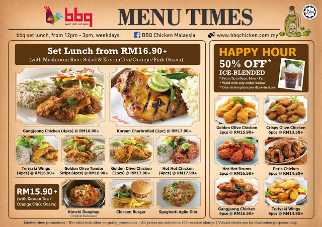 Lunch Time Menu Bbq Chicken Malaysian Foodie