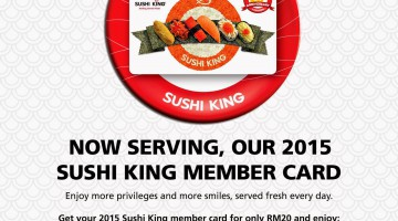 SUSHI KING 2015 CARD IS OUT !