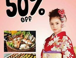 50% OFF AT SHABU TEN