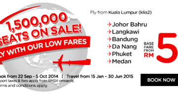 AIR ASIA 1,500 000 SEATS ON SALE