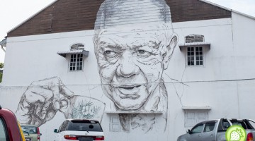 STREET ART BY ERNEST ZACHAREVIC IN IPOH OLD TOWN