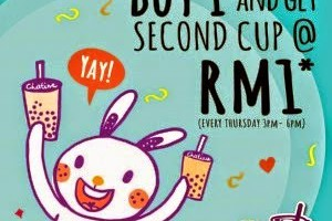CHATIME SECOND CUP @ RM 1