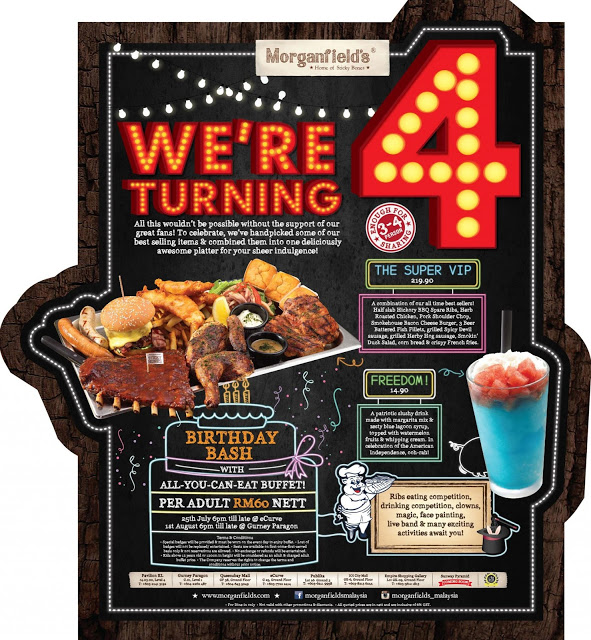 MORGANFIELD BIRTHDAY PROMOTION: EAT ALL YOU CAN