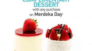 COMPLIMENTARY DESSERTS IN MERDEKA DAY WITH DELICIOUS
