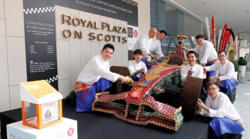 WORLD'S FIRST LIFE-SIZED COFFEE CAPSULES RACE CAR AT ROYAL PLAZA ON SCOTTS SINGAPORE