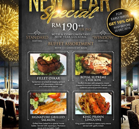 TOAST TO THE BRAND NEW YEAR AT THE ROOF
