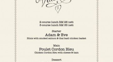 BE MY VALENTINE @ MADELEINE PATISSERIE CAFE & BISTRO