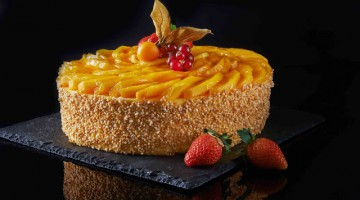 MANGO YOGURT CHEESE CAKE @ MELTING POT CAFE