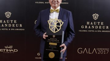 ONE WORLD HOTEL CONTINUES TO MAKE ITS MARK ON THE GLOBAL STAGE – ESTABLISHMENT WINS TWO HIGHLY COVETED TITLES AT  HAUTE GRANDEUR GLOBAL HOTEL AWARDS 2017