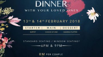Valentine's 2018 Promotion @ Signature at The Roof