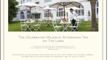 The Majestic Afternoon Tea On The Lawn