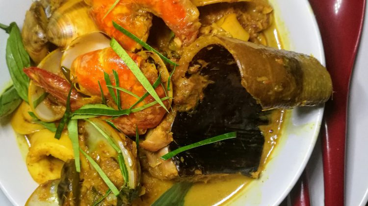 Seafood Yellow Kroeung Curry with Prahok by Chef Sidney Kan