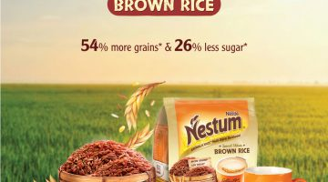 KICK-START HEALTHIER EATING HABITS WITH THE WHOLESOME GOODNESS OF NESTUM® BROWN RICE