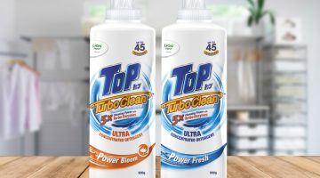 Small Dose, Powerful Cleaning in Half the Time with 5X Cleaning Power with TOP Turbo Clean Ultra Concentrated Detergent